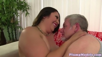 Bigtitted ssbbw defeated challenging upon the settee