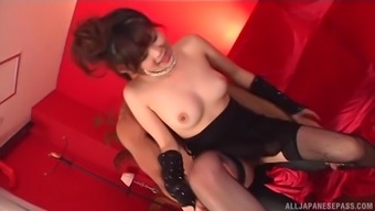 Japanese people sweetie China Yuki does dirty aspects and get a taster of sperm