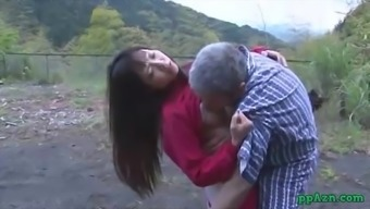 From asia Krown Getting Her Pussy Licked And Fucked By Old Man Semen To really Booty Outdoor adventure At