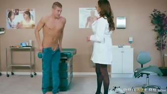 Ariella Ferrera is a big breasted doctor that likes riding a dick