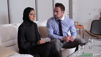 Big breasted hijab Ella Knox gets nailed missionary style very difficult enough