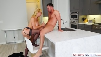 Eager bright auburn nympho Alexis Fawx bends as she want to a number of cunnilingus