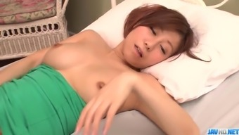 Gorgeous Chihiro Akino amazes with her slow blowjob