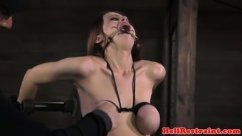 breast bound substitute gagged and punished by dom