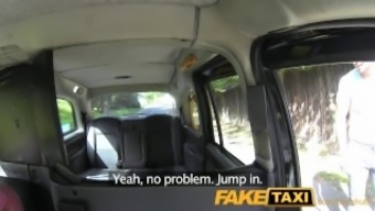 FakeTaxi Spain number of have steaming sex at the spine of taxi