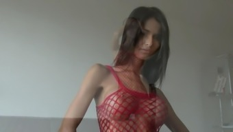 Slender Czech along with Big Titties Trys it on for You
