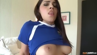 furry conversational italian pussy of sturdy valentina nappi is drilled by big the spanish language dick