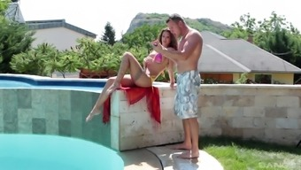 Nothing pleases Susy Gala like playing with a dick outdoors