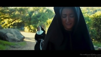 Sinful nun Charlotte Stokely is so into mockery the woman starved pussy
