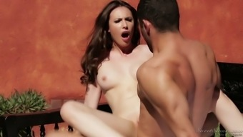 Just natural and organic wonderful hottie Casey Calvert is incredibly into using cock