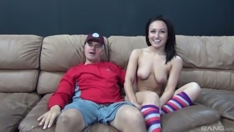 Blessed guy discussions sweet Gabriella Paltrova into cycling his dick