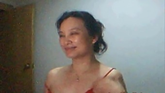 Mimi from Shanghai contributes and indicates on webcam