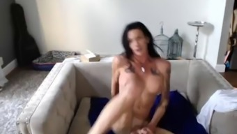 gorgeous tattooed shemale fiddle around