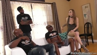 Luster light girl Natasha Starr is fucked by a number of transcend males