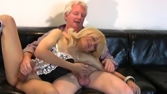 Brown sissy gets wayward with an old adult man