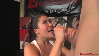 London Keyes lets a neighbor bang her while she moans loudly