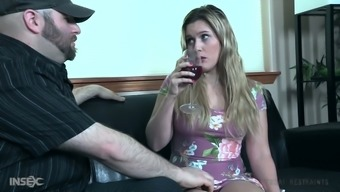 Watch submissive pale whore Sasha Heart being fixed and masturbated