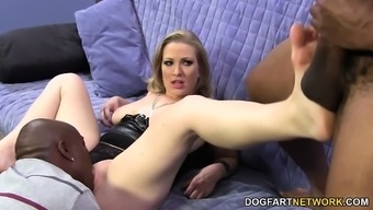 Twice Absorption With the use of Large Unparalleled Cocks - Vicky Vixen