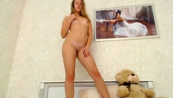 Independently pussy toying along with cute black teen hobo