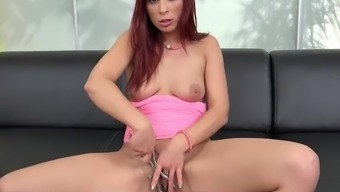 Pussy Gaping And Masturbation From Hot Redhead