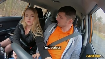 Blowjob and riding is enough for Lucy Heart to pass her exam