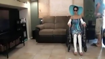 Milf in wheelchair must give it up to her step son