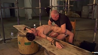 Video of two gay dudes having nasty gay sex in the BDSM dungeon