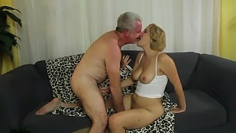 Passionate fucking on the sofa with horny blondie Alix Lovell