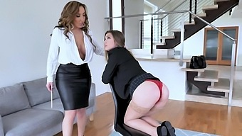 Busty MILF Richelle Ryan moans while getting licked by foxy Avery Cristy