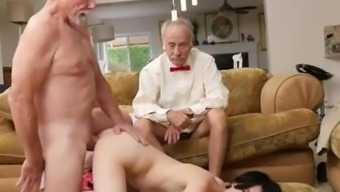 Old stud young krown shower Alex Harper