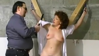 grow older hottie's busy and spanked