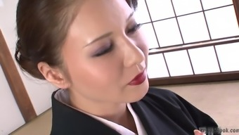 This heated busty Japanese MILF is showing a lot of what precisely most of us like