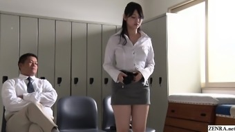 JAV star turned around coach Rei Mizuna striptease Subtitled
