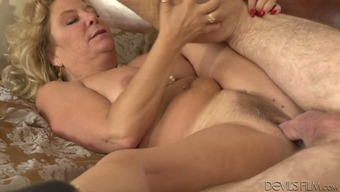 Immoral blond grow older Karen Summertime fucks grand father Jay Crew