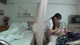 Japanese clinician treasures being intimate with a couple of part3