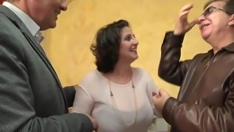 He wrist watches his special wife Romina fucked inside a gangbang