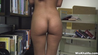 Undesirable wife Mia Khalifa gets bare in a general public store