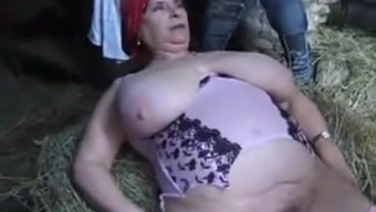 FRENCH BBW GRANNY OLGA FUCKED BY 2(two) MEN Among the Grow