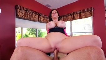 Naughty mom around fucked inside the pussy by mens along with intense penis