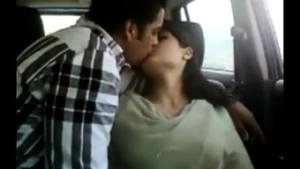 Heated indian partners in auto gets kinky