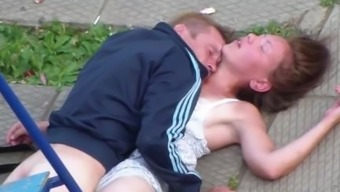 Drank Couple Making out in government departments Playground