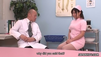 Delightful nurse Aika Hoshino is getting down and grimy with her health professional