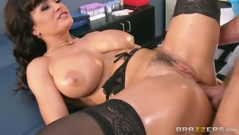 Oversexed brunette milf gets her crimson fucked in greyhound dog and christian missionary opportunities
