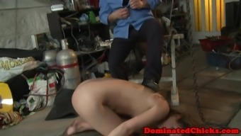 Eurobabe punishing and outstanding by maledom