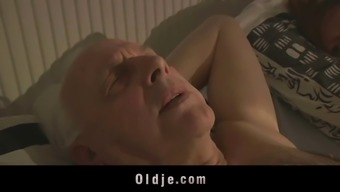 Grand father sexblessed by warm Winger pussy