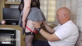A stocking lover has got a experience