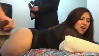 Two different Law enforcers Buckle Her Round Booty - (Smack - Lynn Casey)