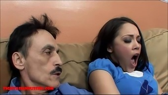 Little from asia young adult tight pussy gets defective by dirty old adult man and gets grandpa sperm with her your mouth