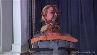 Black milf cherie deville attached gagged in a straitjacket and motorized wheel chair exhaust