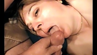 Plus size dark chubby delivering huge penis blowjob in home made pov burst